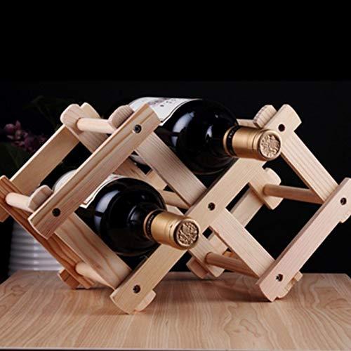 chx 3 Botella De Madera Plegable Vino Titular De Rack Vino Rack Organizador Cocina Clásico Cocina Barra De Vino Soporte De Vino Estantería