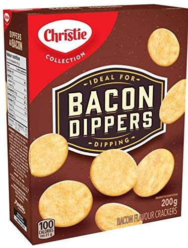Christie Bacon Dippers Crackers, 200g/7.05 Ounces, 12 Count, Imported from Canada}
