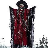 JZFUKSP Halloween Dekorationen hängen Grim - 26 Zoll Horror Sensenmann hängende Ghost mit...