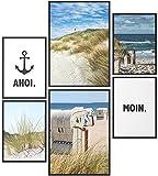 Papierschmiede® Mood-Poster Set Moin   Bilder als Wanddeko