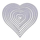 Cosye 10 Piezas en Forma de corazón Troqueles de Corte de Metal en Relieve Plantilla para álbum de Recortes DIY Tarjeta de Papel Arte artesanía Decoraion