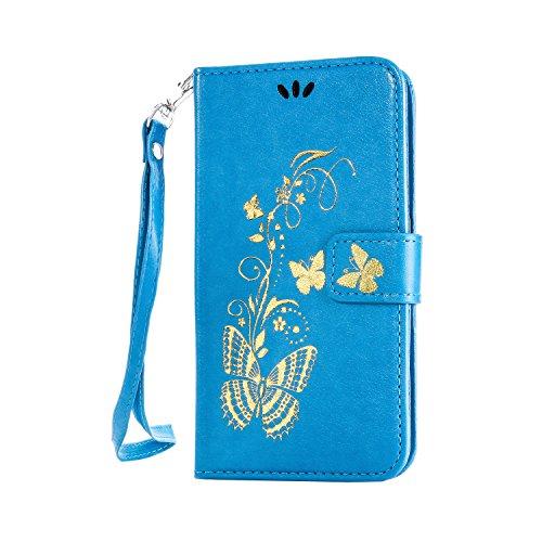 Coozon Book Style Handy Tasche Klapp Etui Schutz Hülle Flip Hülle mit St?nderfunktion & Kartenf?cher Für Lenovo A2010 (4.5 Zoll)