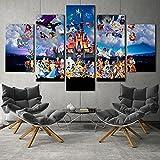 WKXZZS Tabla decoración Disn Personajes Magic Kingdom -...