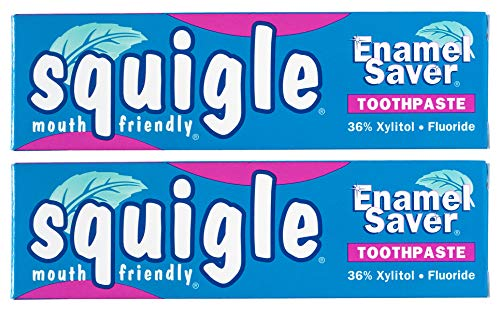 Squigle Enamel Saver Toothpaste, Canker Sore Treatment. Helps Prevent Cavities, Plaque, Tartar,...