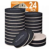Furniture Sliders Furniture Moving Kit 24 Pack, Reusable Felt Pads Furniture Mover, 2 1/2 inch Felt Sliders for Hard Floor Surfaces, Heavy Duty Moving Men Helps Move Heavy Furniture Quickly and Easily