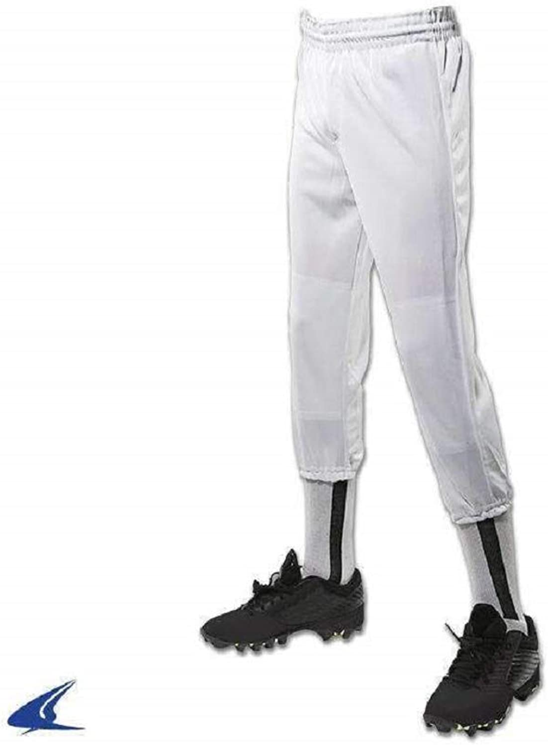 Manufacturer direct delivery CHAMPRO Value Cheap mail order sales Youth Pull-Up Pant Large Baseball White