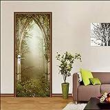 Diy Creative 3D Forest Palace Door Paste Reacondicionado Papel Autoadhesivo Dormitorio Habitación Pasillo Liquidación Secreta Decorativo Pvc Papel Pintado Pegatinas