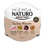 Naturo Wet Cat Food Adult Turkey Mousse 85g (Pack of 8)