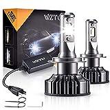 H7 LED, WZTO 12000LM Bombilla H7 led Coche Faros Delanteros 70W 6000K Bombilla Kit IP67 Impermeable - Garantía de 2 Años