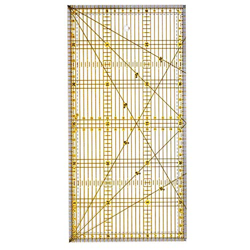 Enjoyyouselves - Regla de planchado en caliente, resistente a altas temperaturas, accesorio de costura lineal para planchar, cortar en ropa o tela, coser, costura añadida, patchwork