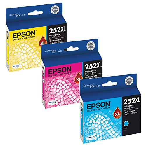 Epson T252XL220, T252XL320, T252XL420 High Yield Ink Cartridge Set Colors only (CMY) New Jersey