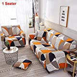 GCDN Stretch Sofa Slipcover, 1 Pack Sofa Cover Furniture Protector Couch Soft with Elastic Bottom, Anti-Slip Polyster Sofa Cover Printed All-Inclusive
