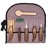 Jacqu, 7pcs/set de cincel de carpintería, cortador de mano de herramienta de madera tallado cortador de madera DIY tallado escultural herramienta
