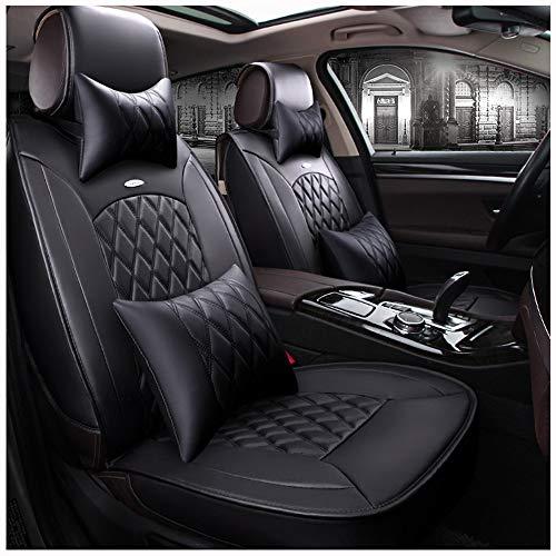 ZMCOV Housse Siege Voiture Cuir PU, Respirant Résistant À l'usure Seat Protecteur, Compatible avec Toyota Camry Corolla Avalon Hybrid Yaris Sedan Rav4 Tacoma Highlander 4Runner,A,Luxury