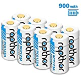 CR123A Lithium Battery [900mAh 8Pack] for Arlo Wireless Security Camera (VMC3030/VMK3200/VMS3230/3330/3430/3530) Flashlight Polaroid Microphone