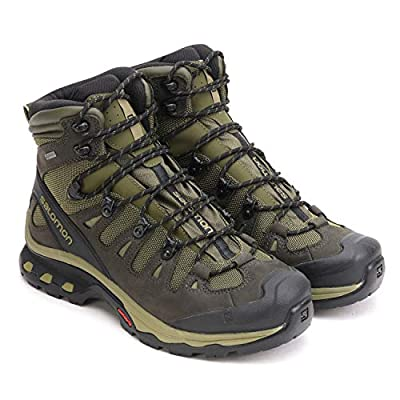 Salomon Men's Quest 4D 3 GTX Backpacking Boots, Grape Leaf/Peat/Burnt Olive, 7