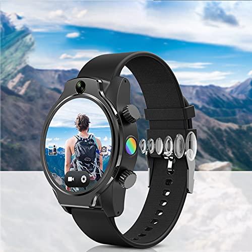 GPS Smart Watch 4G LTE Reconocimiento Facial Doble Cámara 8MP WiFi Fitness Deportes Multifunción Smart Watch IP68 Reloj Impermeable para Hombres Y Mujeres