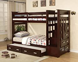 angelica beds donco bed wood over twin trundle captains bunk