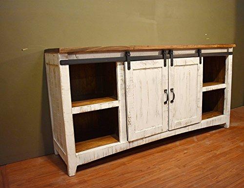Aihom Armario de madera de 2438 mm, doble deslizante, kit de riel para colgar 2 puertas