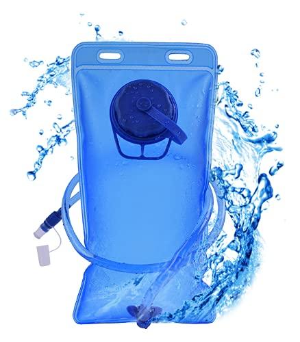 BAKSN Trinkblase 2L, leicht zu reinigen und mit abnehmbarem Mundstück, Wasserdicht und reißsicher ,Perfekt für Outdoor, Radfahren und Wandern