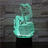 Dalovy Festival 3D Illusion Lampe LED Veilleuse Thor Marteau Lampe de Nuit Chambre Lampe de Table Saint Valentin Cadeaux pour Amoureux Couples Enfants Sommeil Lumière