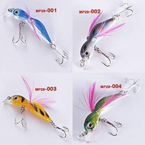 Soytich Wobbler,Insekten Imitation, ideal auf Regenbogen Forelle und Barsch Fisch-MP28, Farbe/Modell:MP28-001