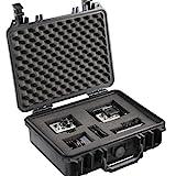 Mantona Outdoor Foto Schutz-Koffer M (geeignet für DSLR Kamera, GoPro Actioncam, Foto-Equipment uvm., Größe M, wasserdicht, stoßfest, staubdicht) schwarz