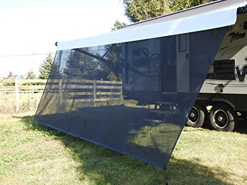 VroomTec recreational Home Awning Shade Panels, Excellent Recreational Vehicle Accessory, Cuts Out Blinding Sunlight Without Obscuring View, RV shade panel that Withstands the Elements (6X12, Black)