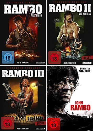 Rambo 1 + 2 + 3 + 4 John Rambo Collection - Kein Box-Set [4-einzel DVD's]