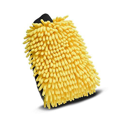 Cepillo de limpieza de coches Lavado de coches guante cera cera detallando cepillo coral mitt suave anti-rasguño para lavado de autos limpieza de automóviles multifunción gruesa guante de limpieza par