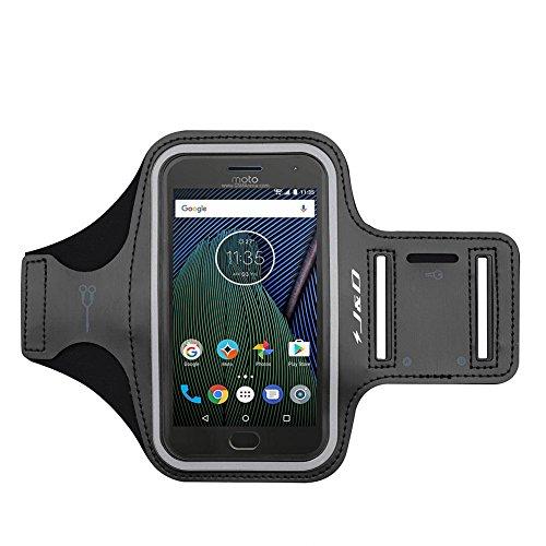 J&D Compatible para Motorola Moto G8 Power/G6 plus/G6/G5 Plus/G4 Brazalete Deportivo para Correr, Ranura para Llaves, Conexión Auriculares Mientras Ejercicios y Carreras