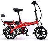 Bicicleta eléctrica Bicicleta eléctrica por la mon Bicicleta eléctrica plegable de la batería de litio de coches en tándem for adultos bicicleta eléctrica auto-conducción for llevar 48V 350W para los