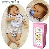 ZIYIUI 22 Zoll Realistische Reborn Babypuppen Silikon Junge Lebensechte Schlafend Puppe Neugeborenes...