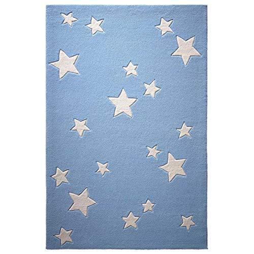 bellybutton Sternenzelt Moderner Markenteppich, Neuseelandwolle, Blau, 100 x 60 x 1 cm