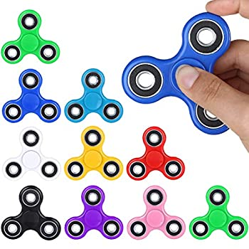 SCIONE Fidget Spinners Bulk Toys 25 Pack Fidget Spinners Gifts for Adults and Kids Prize for Kids Classroom,Party Favors for Kids ,Stress Anxiety ADHD Relief Fidgets Toy Finger Hand Spinner Toys