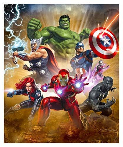ZGPTOP Klassische Puzzles Hulk und Captain America Iron Man Pädagogische Spiele Brain Challenge Puzzle Kinder Holz Puzzles 300/500/1000/1500 Stück (Size : 1000P)
