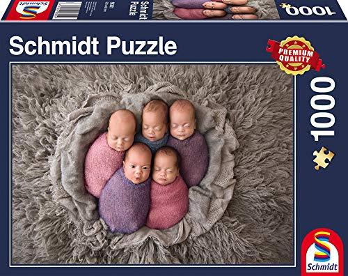 Schmidt Spiele Puzzle 58301 58301-Fünf auf einen Streich, 1.000 Teile Puzzle, bunt