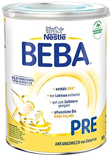 Nestlé BEBA Pre Anfangsmilch, Anfangsnahrung von Geburt an, 1er Pack (1 x 800g)