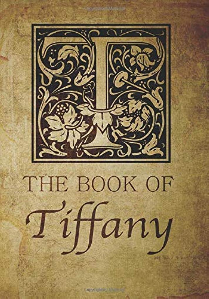 ホバー灰ベーシックThe Book of Tiffany: Personalized name monogramed letter T journal notebook in antique distressed style. Great gift for writers, creative literary & lovers of arts and crafts style calligraphy.