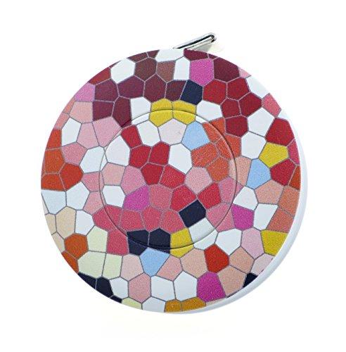 hoechstmass Balzer 80244D-MOSA Rollmaßband rollfix Dekor Mosaic, 150 cm / 60 Zoll Maßband, ABS, Polyfibre, Mehrfarbig, 5 x 5 x 1.4 cm, 12-Einheiten