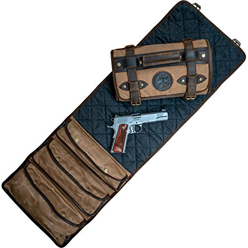 Handgun Cleaning MAT by Sage & Braker. Made from Waxed...