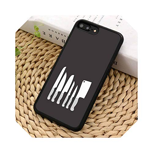 Love Baking Chef Knife - Carcasa para iPhone X XR XS 11 12 Pro Max 5 6 6S 7 8 Plus para Samsung Galaxy S5 S6 S7edge S8 S9 S10-for iPhone 11