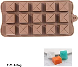 New Silicone Chocolate Mold 15 Shapes 3D Chocolate Baking Tools Jelly and Candy Mold DIY Rose Fruit Fondant Kitchen Gadgets Good - CM1-Bag