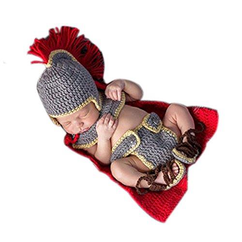 neonato fotografia puntelli Boy Girl crochet costume Outfits Army General set