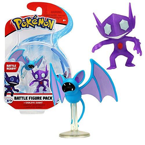 Pokemon Selezione Battle Figures Figura di Azione | Figura del Gioco, Figure di Gioco:Sableye & Zubat