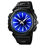 SKMEI Men's Sports Watch, Creative LED Screen Military Watches Waterproof Watches Men