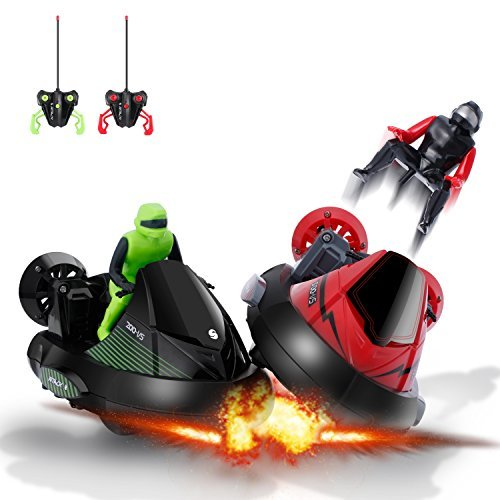 Race Car Toy OCDAY RC Racing Bumper Cars Remote Control Stunt Vehicle for kids, Set of 2
