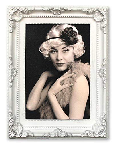 Edler Bilderrahmen weiß gold gewischt 18 Fotos Barock antik Galerie Fotocollage