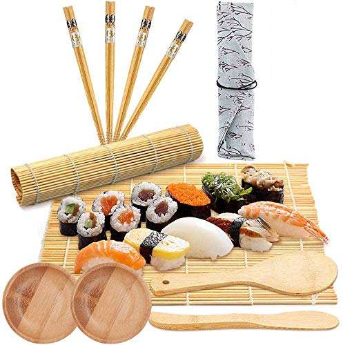 BESTZY 11PCS Sushi Making Kit, Sushi Kit for Chefs and Beginners Best Professional Quick Sushi Making Set