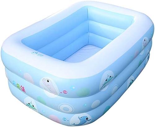 TXOZ Piscine Gonflable pour Enfants épaissie Trois Anneaux, Pataugeoire pour Bébé Adulte 150cm × 105cm × 50cm Baignoire